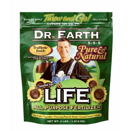 DR EARTH INC Life All-Purpose Organic Fertilizer, 5-5-5, 4-Lbs.