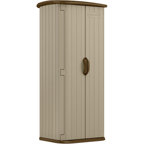 SUNCAST BMS1500 Vertical Outdoor Shed,5x2x2,Sand