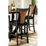 A Line Furniture Besancon Two-tone Black/ Cherry Counter Height Dining Stools (Set of 2)