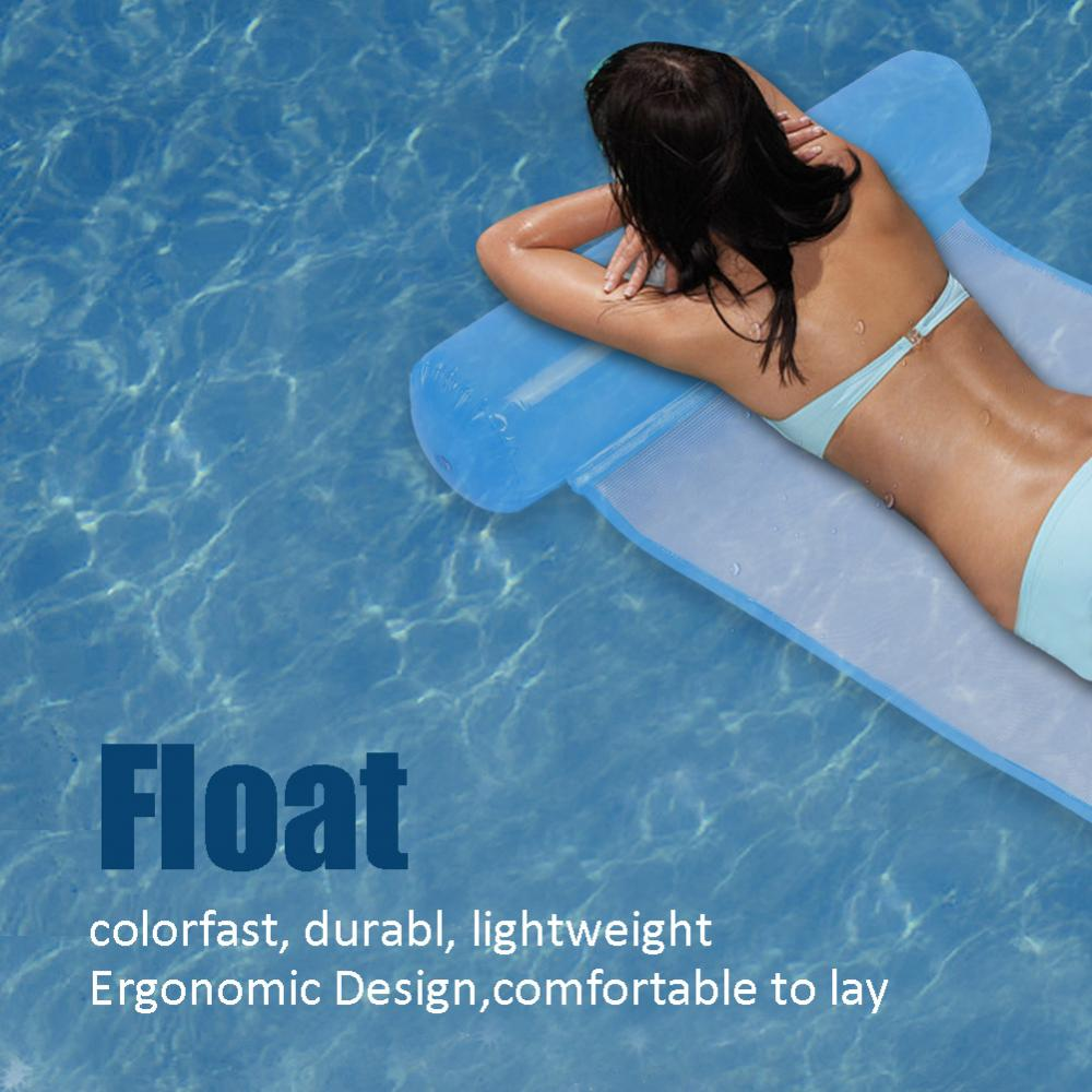 Air Mattress Foldable Swimming Pool Beach Inflatable Float Cushion Bed Sturdy