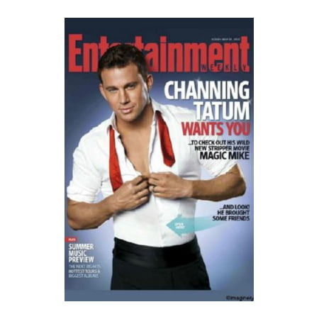 Channing Tatum Magic Mike Poster 24X36 Entertainment Weekly 24X36