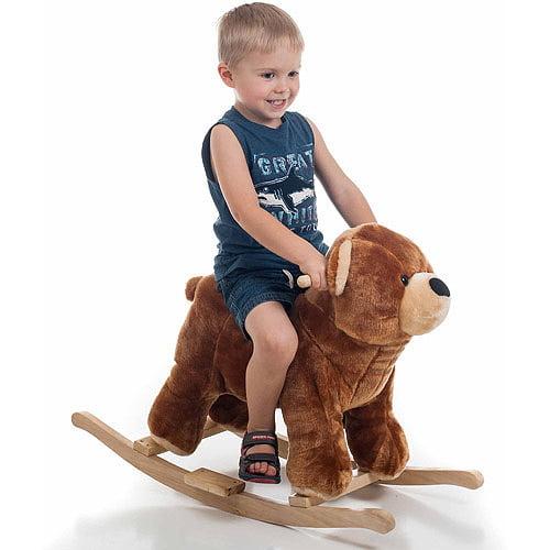 TRADEMARK GAMES INC Happy Trails Plush Rocking Animal, Bear