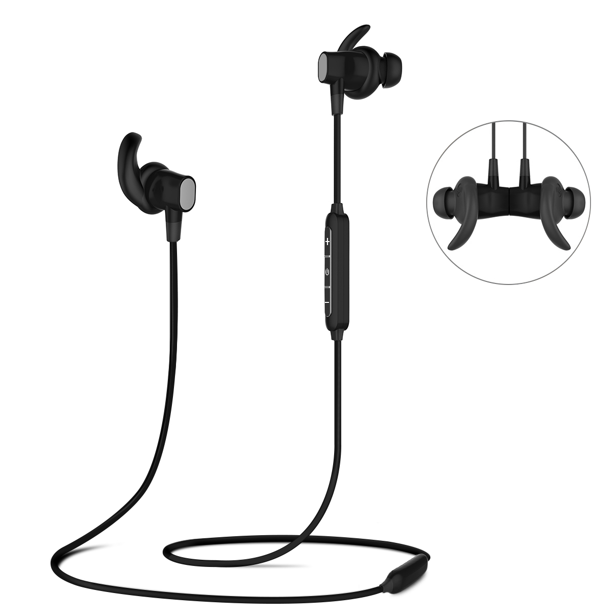 Earbuds, ELEGIANT Wireless Headphones For Sports Gym Running ,IPX6 Waterproof and Sweatproof Magnetic Secure-Fit Headset Noise Cancelling Earphones with Mic