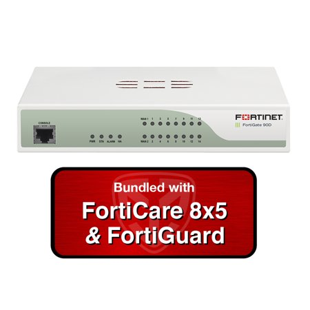 Fortinet FortiGate 90D-POE / FG-90D-POE Next Generation (NGFW) Firewall UTM  Bundle with 3 Years 8x5 Forticare and FortiGuard