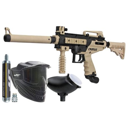 Tippmann Cronus Paintball Marker Power Pack - Gun + Tank + Mask + Hopper
