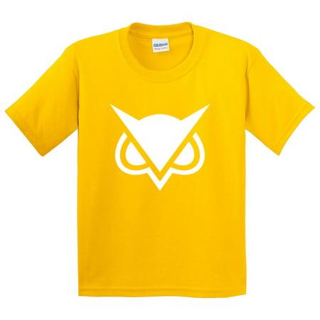 747 - Youth T-Shirt Vanoss Owl Gaming VG Logo Medium Daisy Yellow