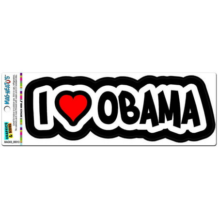 I Love Heart Obama Automotive Car Refrigerator Locker Vinyl Magnet