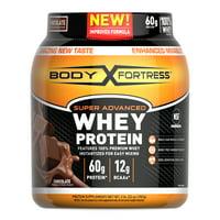 Body Fortress Super Advanced Whey Protein Powder, Chocolate, 60g Protein, 2lb, 32oz