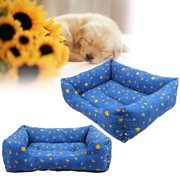 CoastaCloud Soft Washable Dog Cat Pet Warm Basket Bed Cushion Rectangle Pet Bed All Season All Weather Pet Bed to Fit Most Pets
