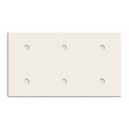 Hubbell Wiring Device-kellems Steel Plate For Use With Bryant® Raceway, Almond