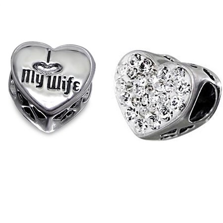 Wife Laser Charm (.925 Sterling Silver