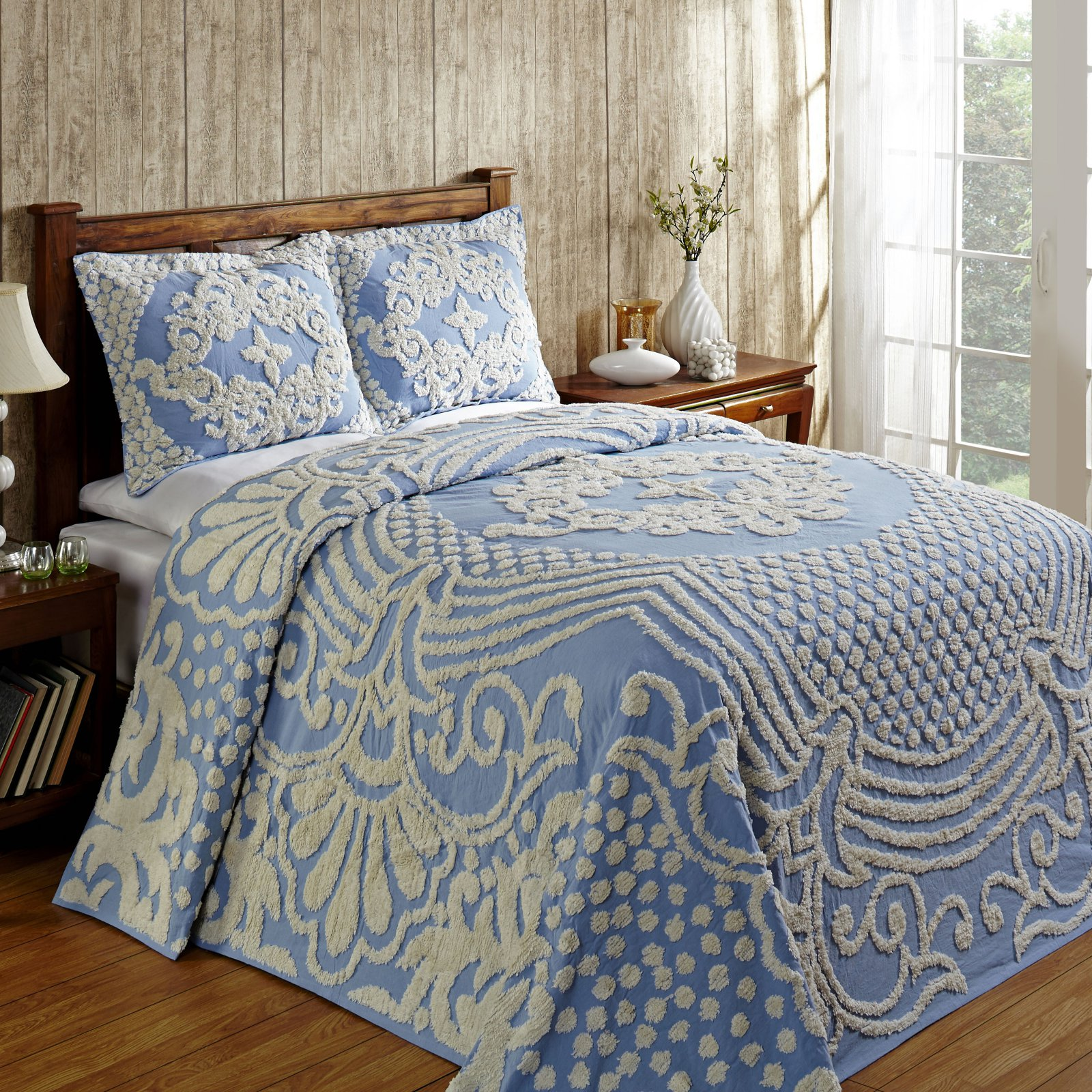 Florence Bedspread Double 96X110 - Blue