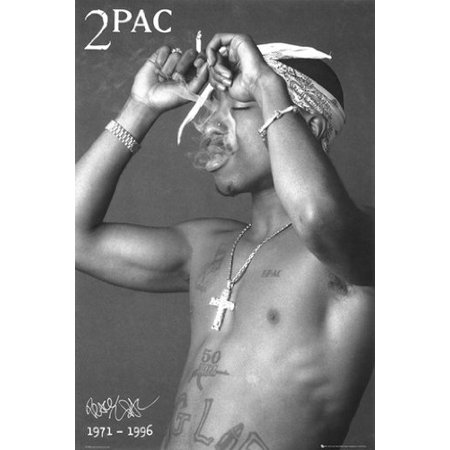 Tupac Poster 2Pac Shakur Smoking New 24X36