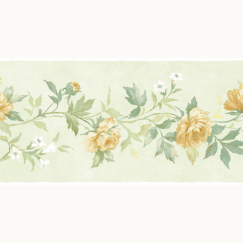 Norwall Wallcoverings Inc Pretty Prints IV 32.7' x 20.5'' Casual Rose Border Wallpaper