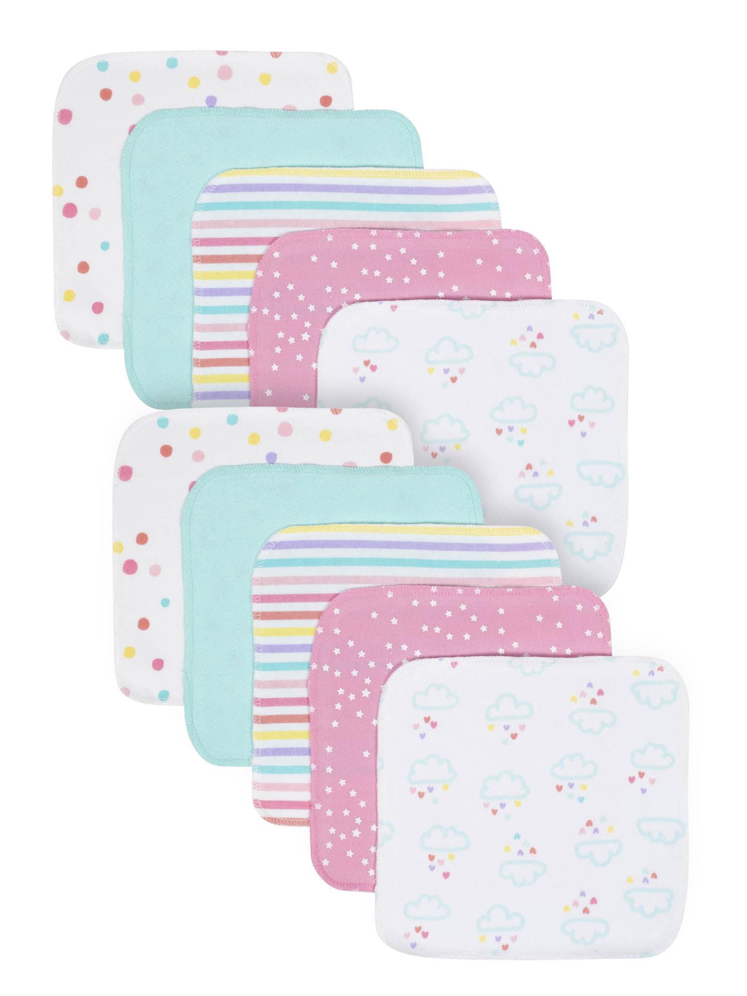 Gerber Organic Cotton Terry Washcloths, 10pk (Baby Girl)