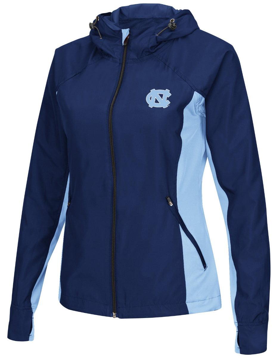 "North Carolina Tarheels NCAA Women's ""Step Out"" Full Zip Windbreaker Jacket by Colosseum"