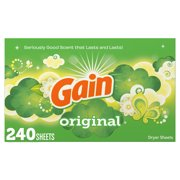 Gain Dryer Sheets, Original Scented, 240 Count Pack