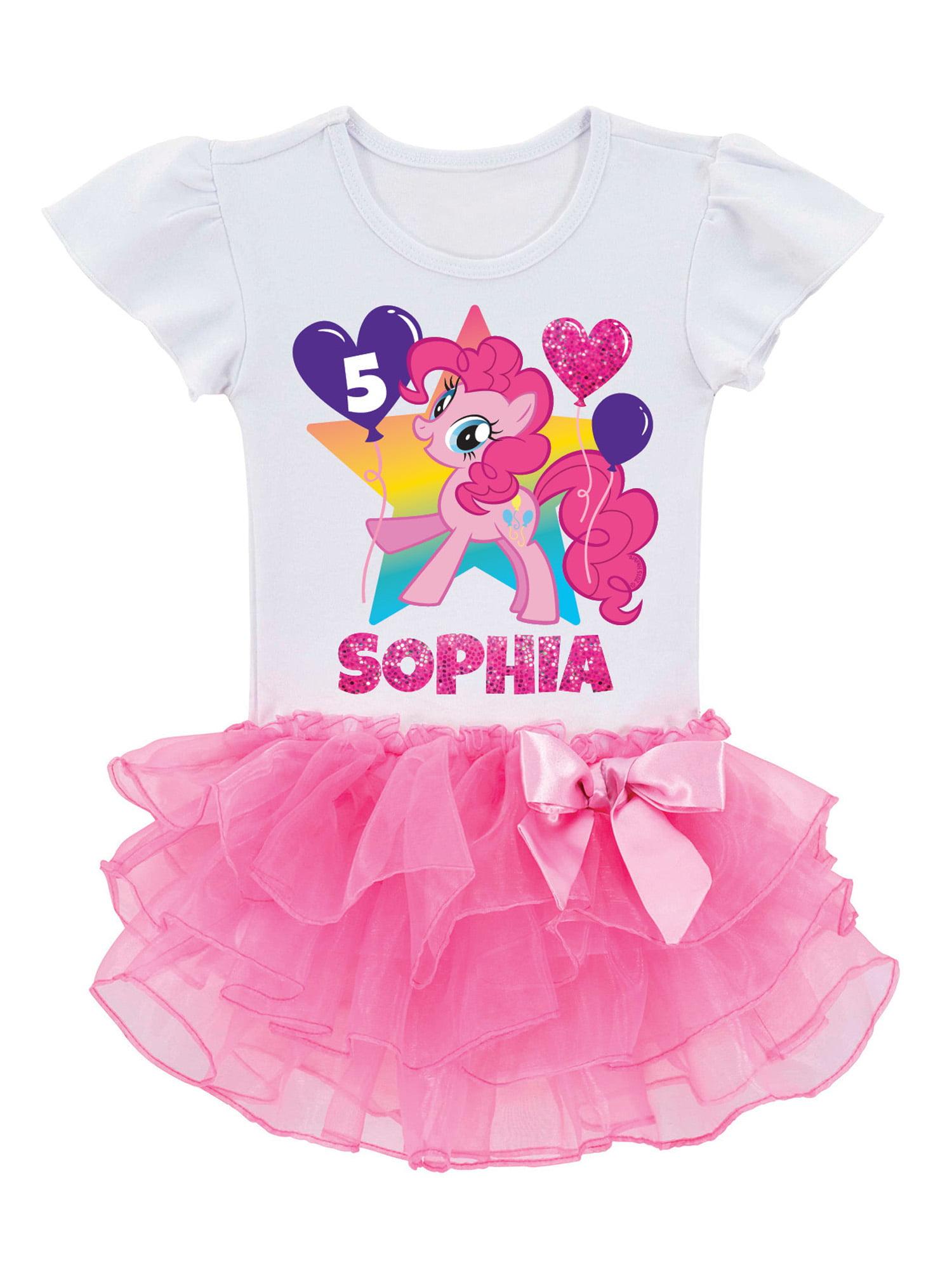 Personalized My Little Pony Pinkie Pie Birthday Toddler Girls Tutu T Shirt