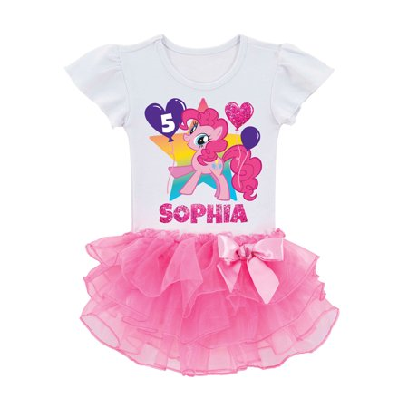 f3147d8f7 My Little Pony - Personalized My Little Pony Pinkie Pie Birthday Toddler  Girls' Tutu T-Shirt - Walmart.com