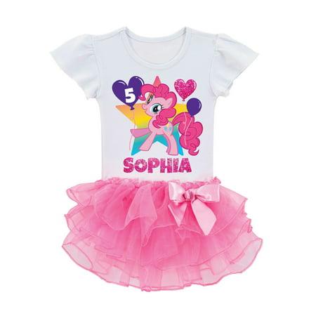 Pinkie Pie Clothes (Personalized My Little Pony Pinkie Pie Birthday Toddler Girls' Tutu)