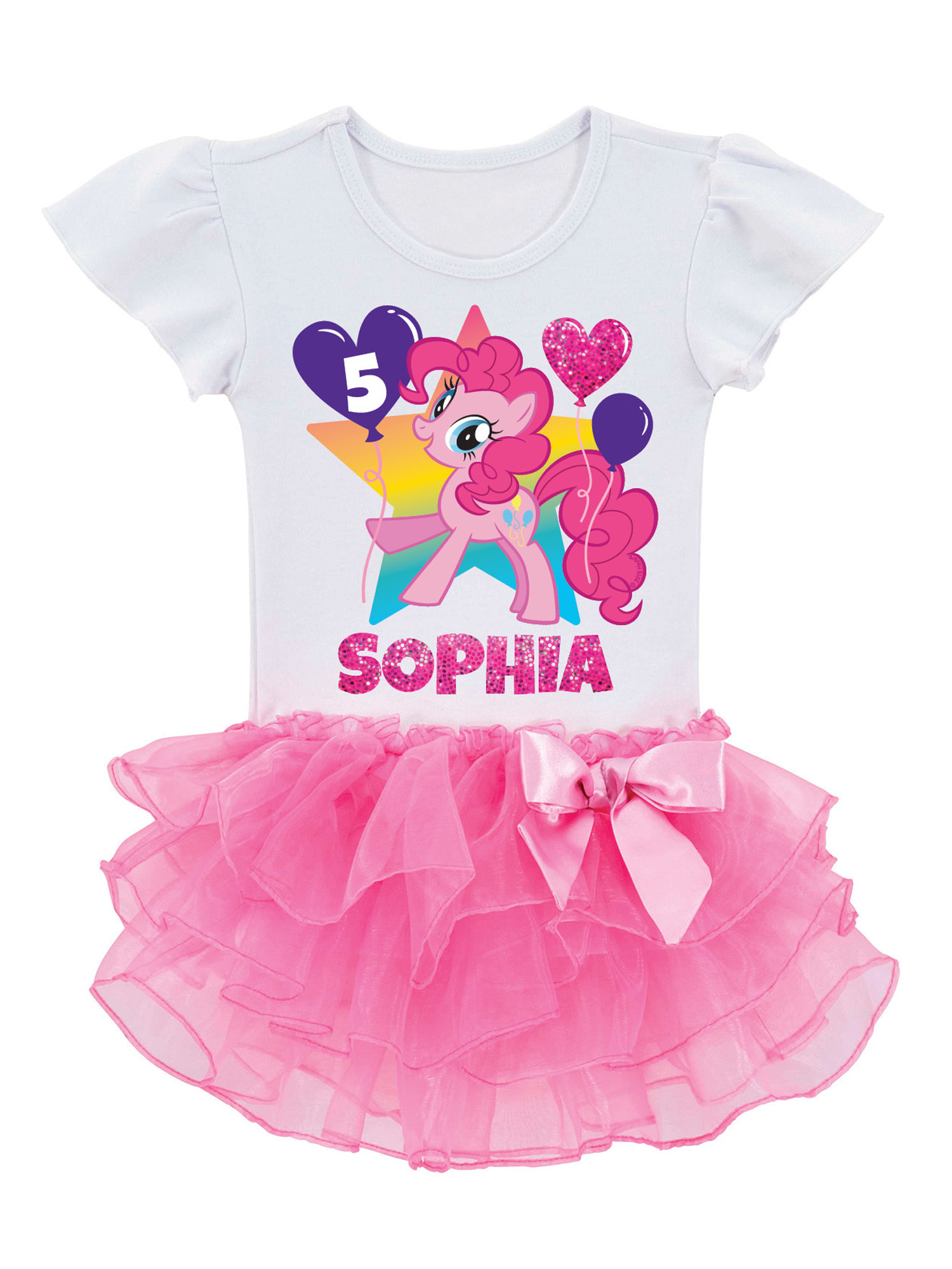 Personalized My Little Pony Pinkie Pie Birthday Toddler Girls' Tutu T-Shirt