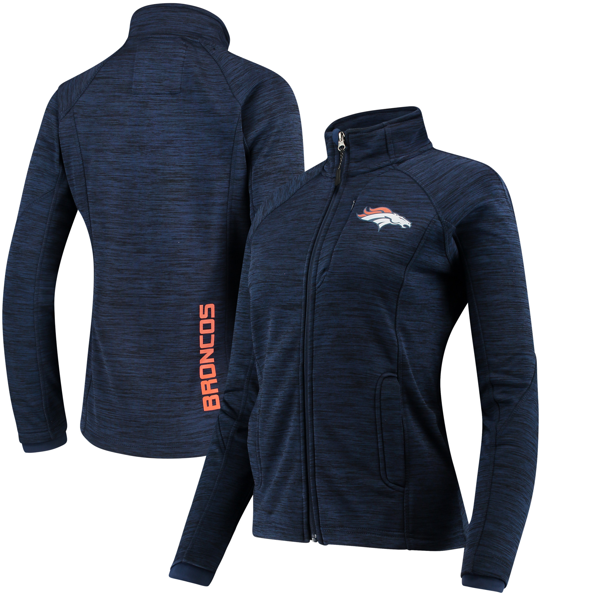Denver Broncos G-III 4Her by Carl Banks Women's Hand Off Full-Zip Jacket - Navy