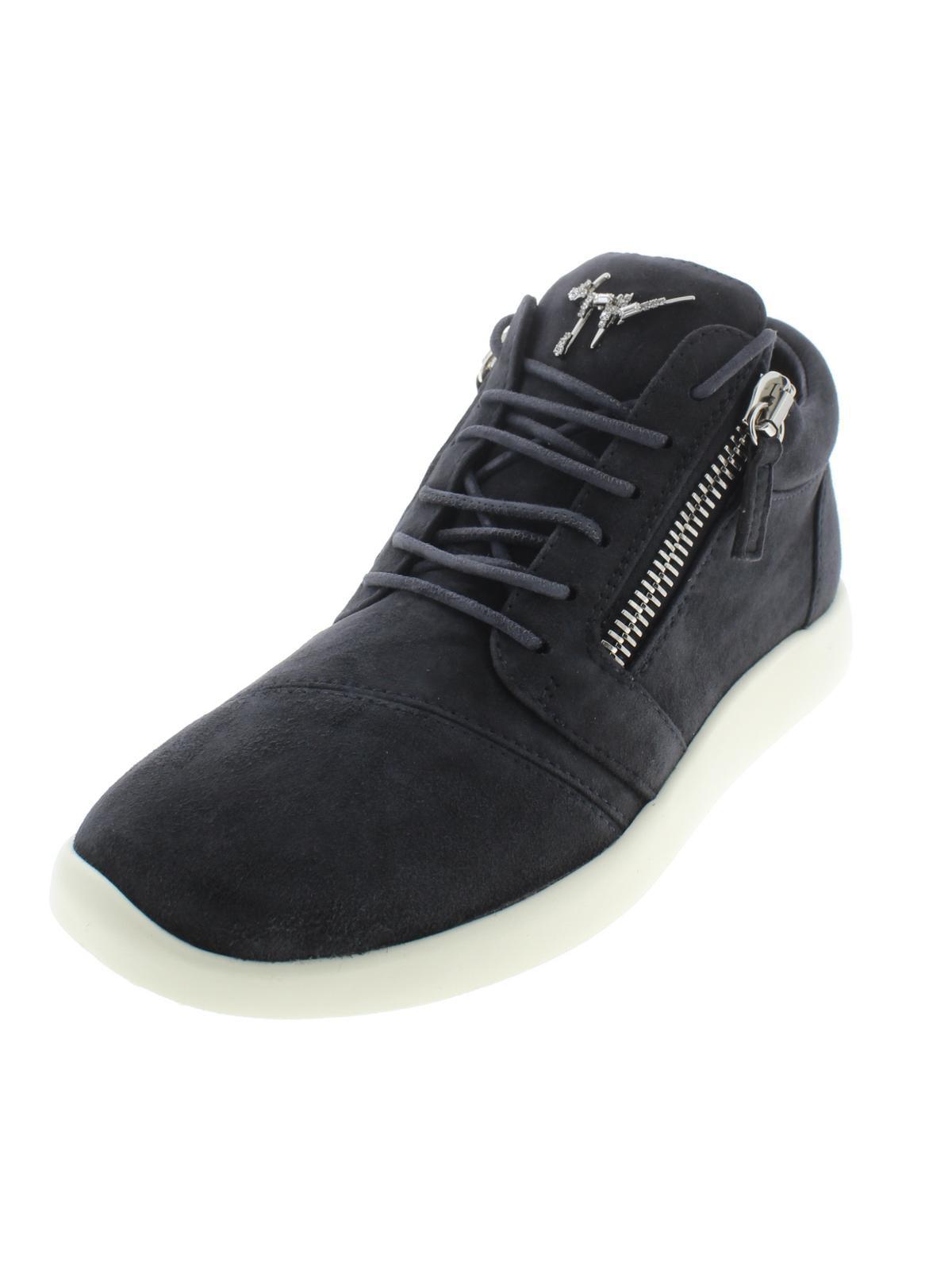 78652ba67f987 Giuseppe Zanotti - Giuseppe Zanotti Womens Singleg SC Donna Suede Zipper Fashion  Sneakers - Walmart.com
