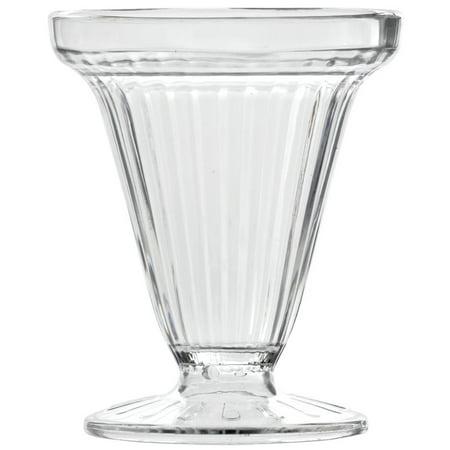 Hubert Sundae Dish 6 Ounce Clear SAN 12 Per - Glass Sundae Dishes