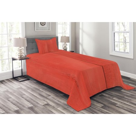 Coral Bedspread Set Vintage Wood Board Plank Texture Image Aged