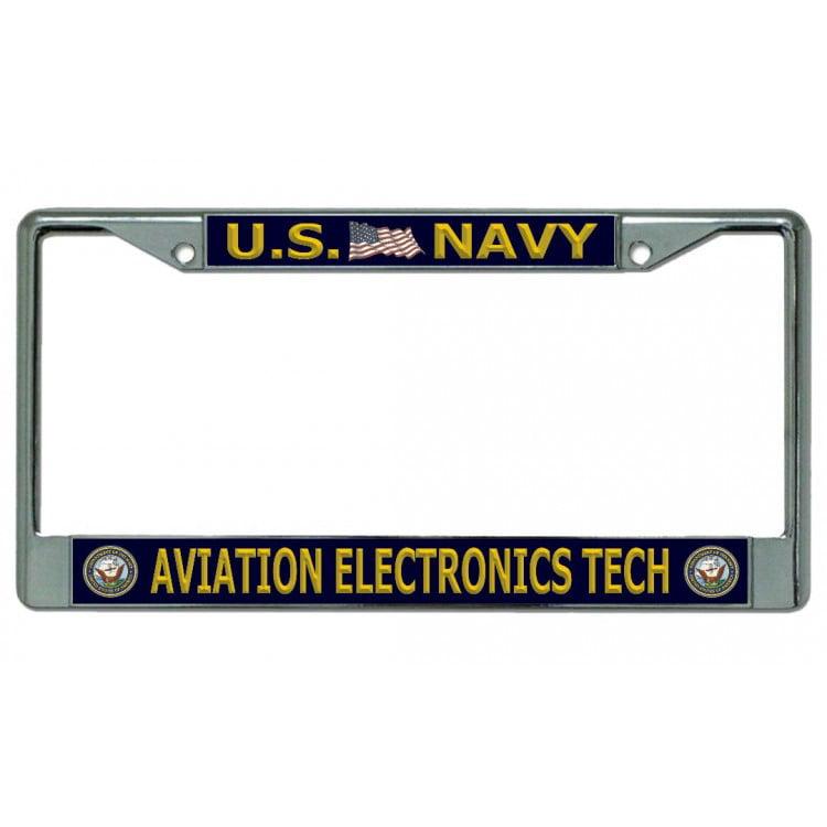 Naval Aviator Chrome License Plate Frame