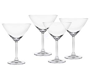 Godinger Meridian 9.5 Oz. Martini Dessert Cocktail Glass Set of 4 by Godinger Silver Art