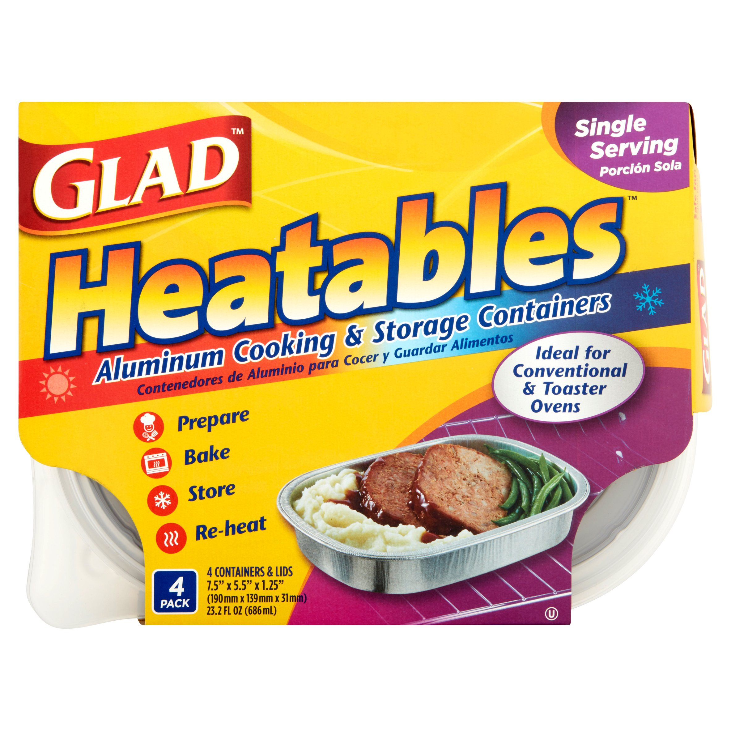 Glad Heatables, Small, 4-Pack