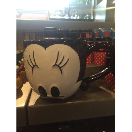 disney parks signature eyes minnie mouse ceramic coffee mug -