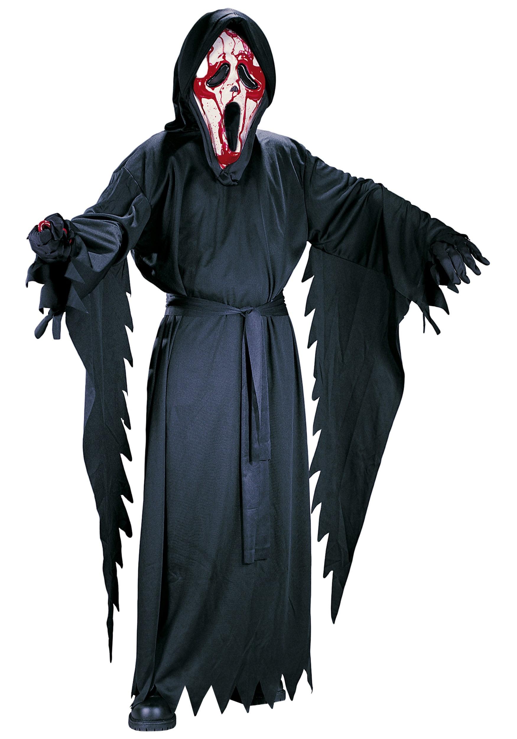 Bleeding Scream Mask Ghost Face Halloween Fancy Dress