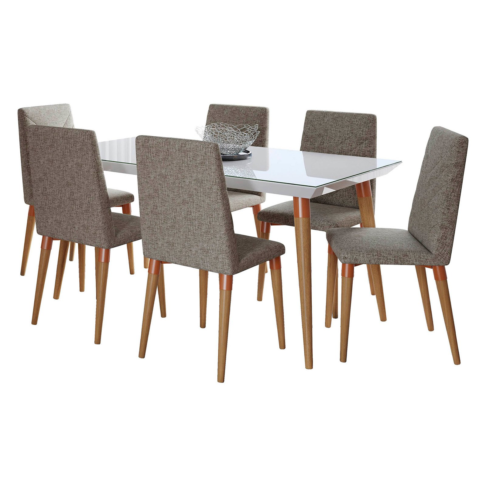 Manhattan Comfort Utopia 7 Piece Dining Table Set