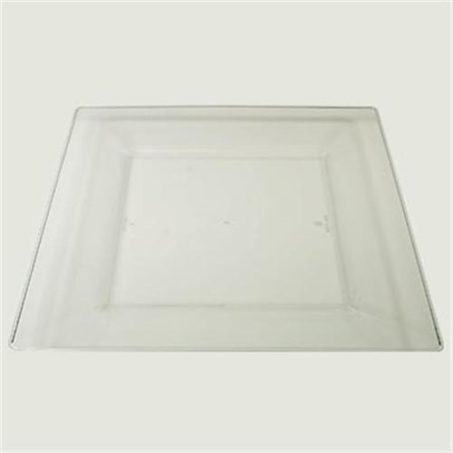Maryland Plastics Simply Square CASE-SQ10756 Squares 10. 75 inch Dinner Plastic Plate, Clear 120 Per Pack