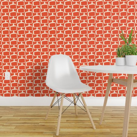 Removable Water Activated Wallpaper Mid Century Mid Century Modern Mod