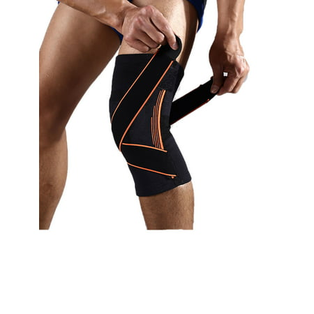 NK SUPPORT Compression Knee Sleeve, Single Wrap Braces and Supports Knee for Pain Relief, Meniscus Tear, Arthritis, Injury, Running, and Joint Pain - Best Knee Sleeve  - (Best Sneakers For Arthritic Knees)