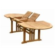 Anderson Teak TBX-106VD Sahara 106 in. Oval Double Extension Table