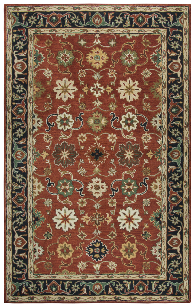 Gatney Rugs Render Area Rugs Sa980a Traditional Oriental Red Vines