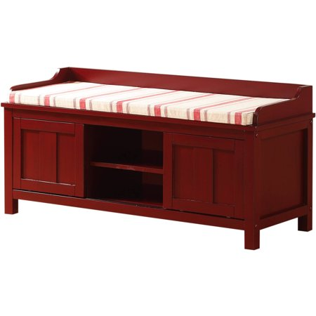 Lakeville Storage Bench Red Discont