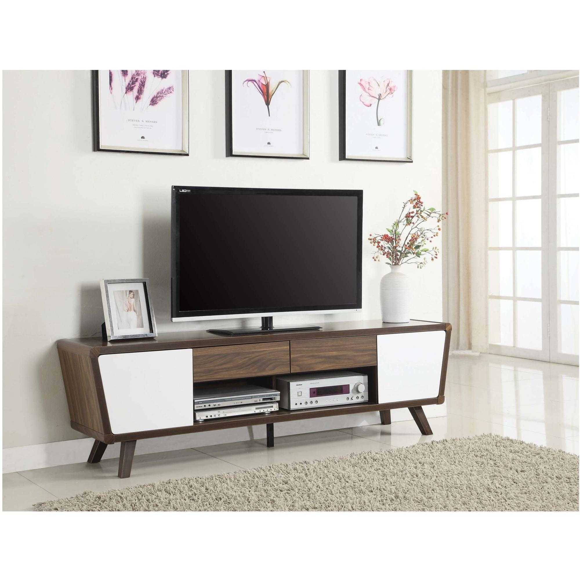 "Modern Mid Century 75"" TV Media Console Stand Cabinet Retro Wood"
