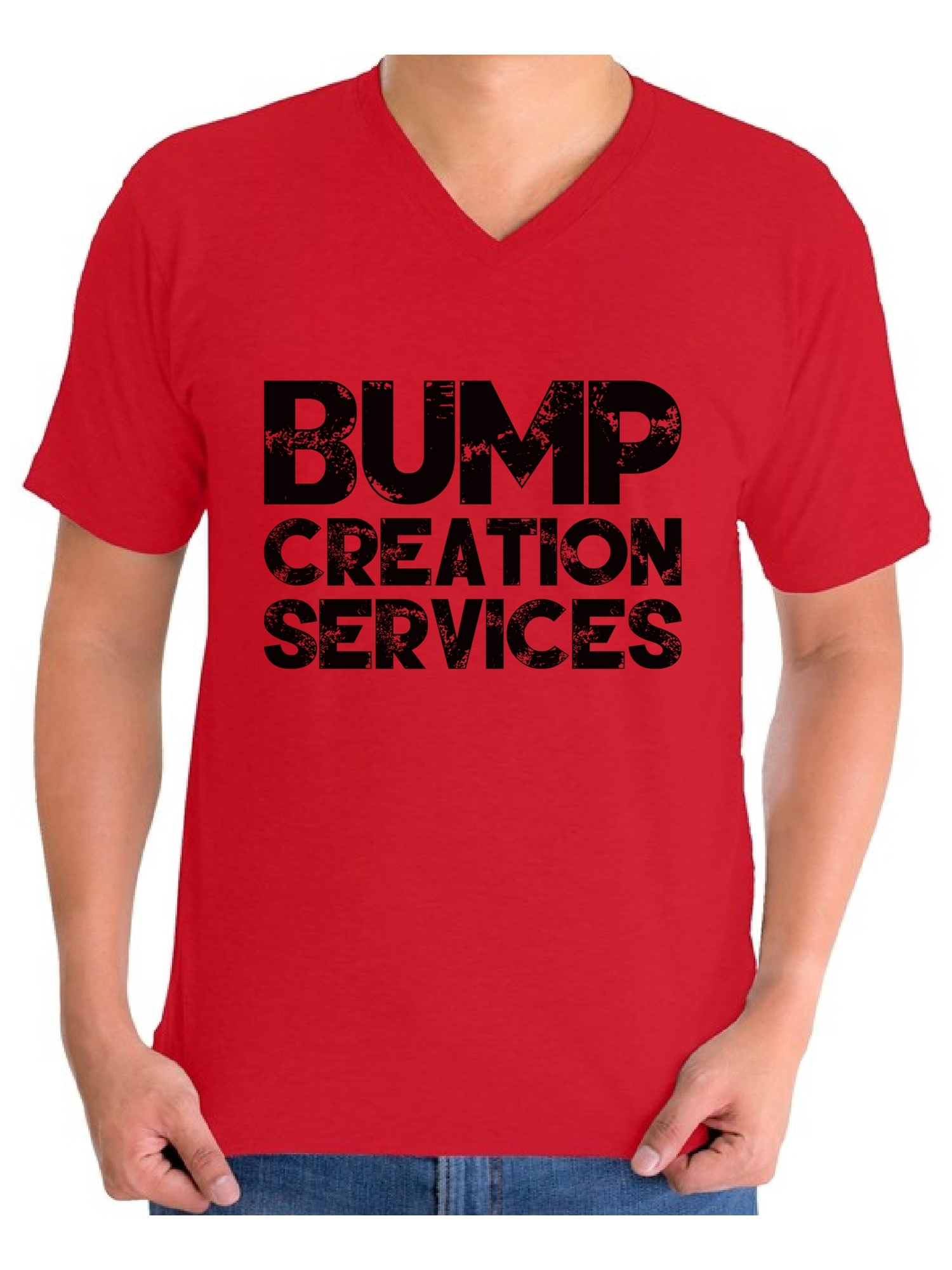 66949540 Awkward Styles Men's Bump Creation Services New Dad Graphic V-neck T-shirt  Tops Bump Dad Father's Day Gift