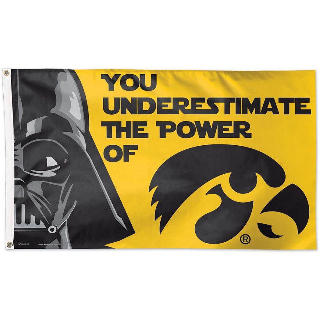 Iowa Hawkeyes Official NCAA 3'x5' Star Wars Darth Vader Banner Flag by Wincraft