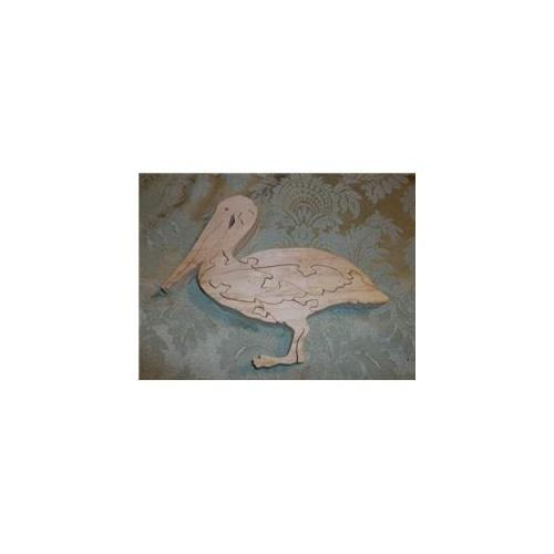 Fine Crafts 249ANI Wooden Pelican jigsaw puzzle