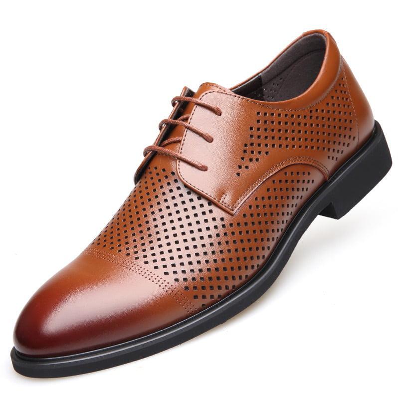 2019 leather shoes men's business dress