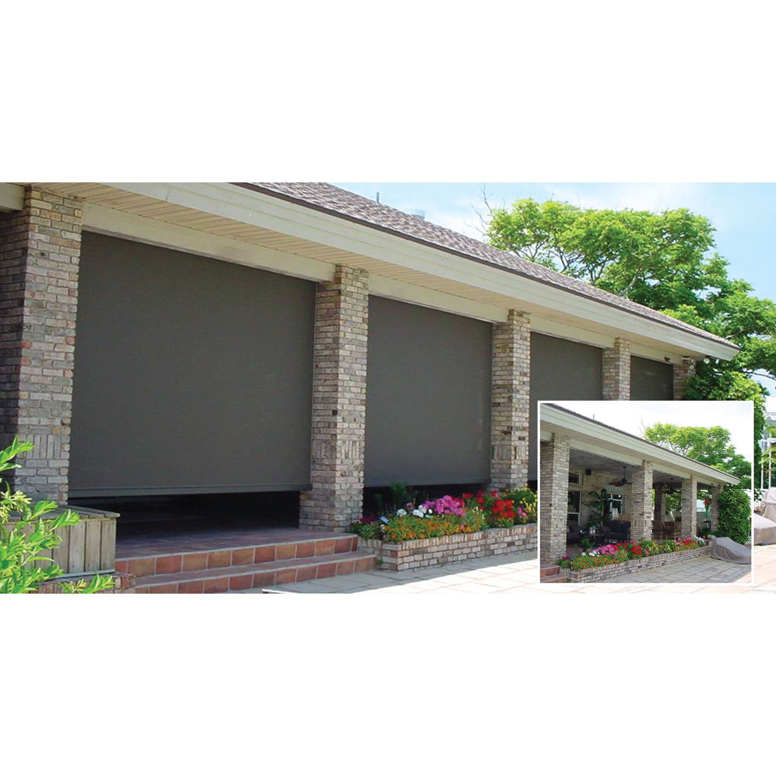 The Perfect Shade ZIP 7 5 x 8 ft Manual Retractable Screen