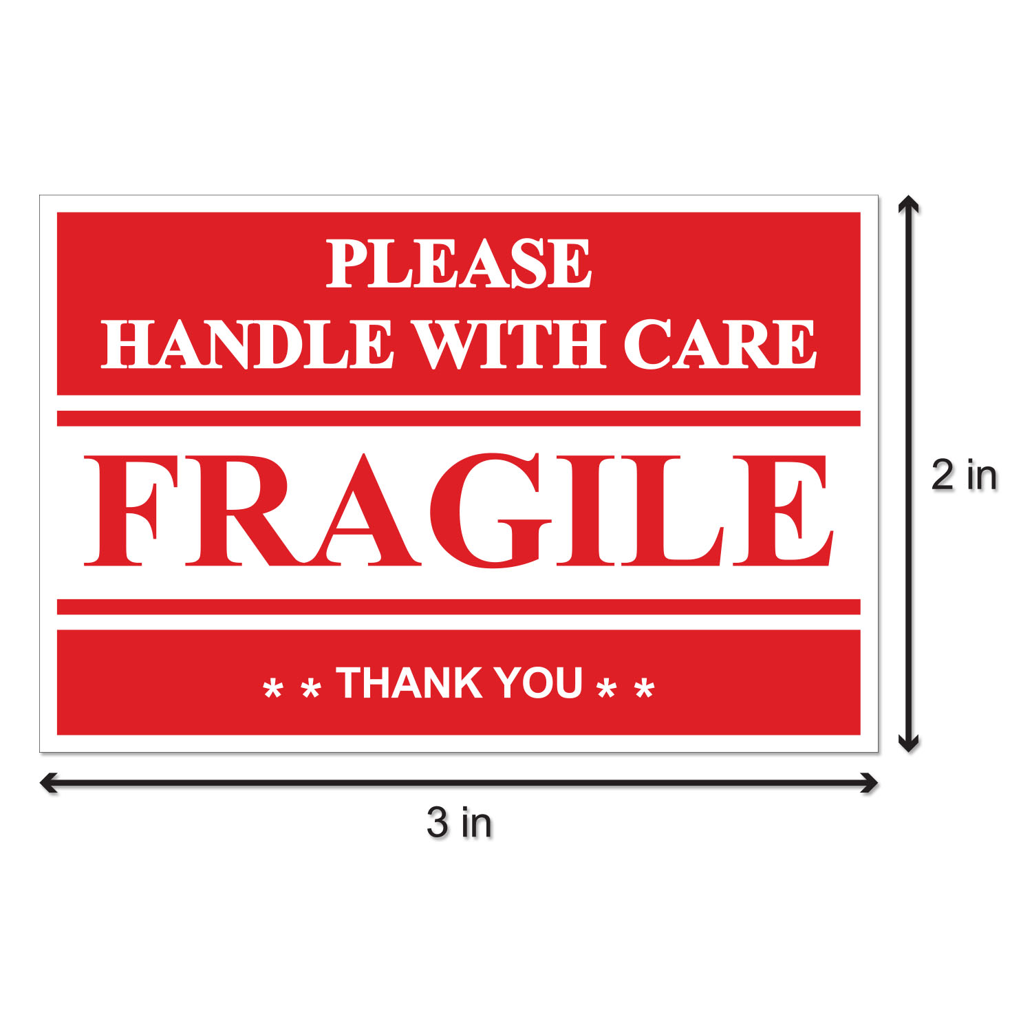 FRAGILE 160 Handle with care Labels Large Stickers