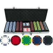 14 gram 500 piece Z Striped Clay Poker Chips by