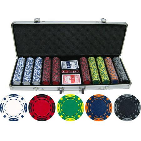 14 gram 500 piece Z Striped Clay Poker Chips